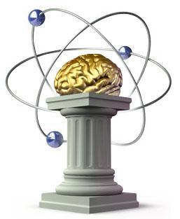 Открытка. С днем науки! Мозг картинка смайлик