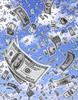 Смайлик Деньги падают с неба аватар