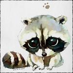 Смайлик Рисунок енота с милыми глазами аватар
