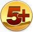 5+ Пять с плюсом на золотом фоне