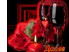Далее. Надпись. Бокалы с вином и цветы