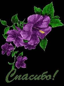 Гиф gif Спасибо цветы рисунок