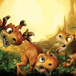 Динозавры из ледникового периода смайлики картинки