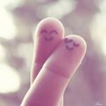 Гиф gif Влюбленные пальцы рисунок