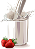 Гиф gif Молочный  коктейль рисунок