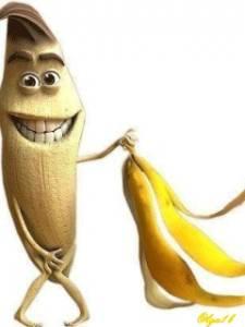 Смайлик Банан  без одежды аватар