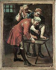Джузеппе Мария Креспи Игроки в кости. 18 век