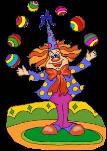Картинка Клоун жонглер анимация