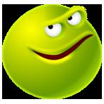 Гиф gif Лукавый зеленый смайл рисунок