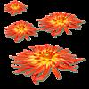 Смайлик Цветы как звезды аватар