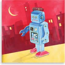 Робот идет по городу