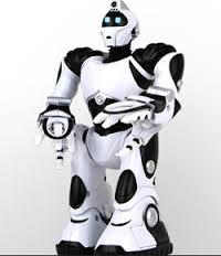 Черно-белый робот