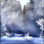 Картинка Красивый зимний пейзаж анимация