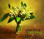Гиф gif Ландыши, весна рисунок