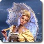 Гиф gif Леди с зонтом рисунок