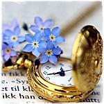 Гиф gif Часы и цветы рисунок