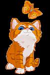 Гиф gif Внимательный котенок рисунок