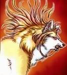 Гиф gif Волк-панк рисунок