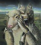 Смайлик Волк одевается в овечью шкуру аватар