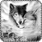 Смайлик Волки. Нежность аватар
