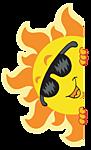 Смайлик Солнце в солнечных очках аватар