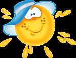 Модное солнышко в шляпе