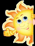 Солнце довольно
