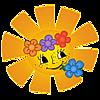 Солнышко с цветами картинка смайлик