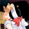 Смайлик Усаги и мамору целуются аватар