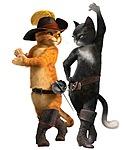 Картинка Танец двух котов в сапогах анимация