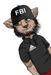 Картинка Кот в кепке с надписью fbi анимация