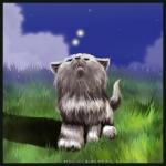 Смайлик Мечтающий кот аватар