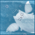 Гиф gif Кот с крылышками подмигивает рисунок