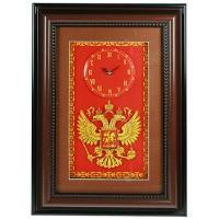 Герб России  с часами