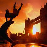 Картинка Тауэрский мост в лондоне на фоне заката анимация
