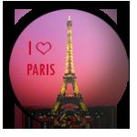 <b>Эйфелева</b> <b>башня</b> на фоне заката (i love paris) картинки смайлики