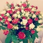 Смайлик Букет из красных и белых роз аватар