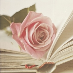 Смайлик Книга и роза аватар