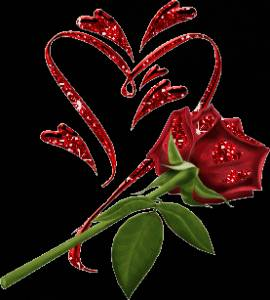 Смайлик Роза с сердцем аватар