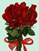 <b>Букет</b> роз с красной ленточкой