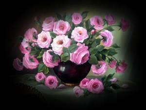 Розовае розы