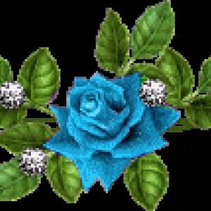 Картинка Голубой цветок анимация