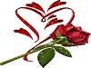 Роза с сердечком