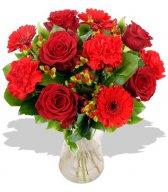 Букет прекрасных красных роз (20)