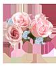Три розовых розы смайлики картинки