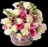 Букет белых и розовых роз смайлики картинки