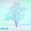 Смайлик Alone,одиночество,одинокое дерево в снегу аватар