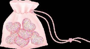Картинка Сердца в мешочке анимация