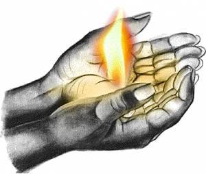 Картинка Ладони в молитве (2) анимация