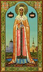 Гиф gif Икона Св.страстотерпица Александра императрица Российская рисунок